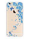 For Case Cover Transparent Pattern Back Cover Case Butterfly Soft TPU for Apple iPhone 6s Plus iPhone 6 Plus iPhone 6s iPhone 6