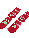 Dog Shoes & Boots / Socks Holiday / Christmas Red Spring/Fall Cotton