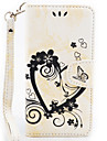 Love Butterfly Embossing Pattern Insert Card lanyard PU All-inclusive Phone Sets For Huawei P9Lite P9 P8Lite