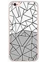Назначение iPhone X iPhone 8 iPhone 6 iPhone 6 Plus Чехлы панели Ультратонкий Полупрозрачный Задняя крышка Кейс для Геометрический рисунок