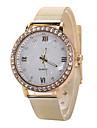 아가씨들 패션 시계 캐쥬얼 시계 모조 다이아몬드 석영 스테인레스 스틸 밴드 실버 골드