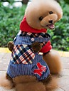 Dog Hoodie Clothes/Jumpsuit Dog Clothes Winter Spring/Fall Plaid/Check Holiday Fashion Red Green