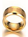 남성용 밴드 반지 문자 반지 패션 의상 보석 도금 골드 텅스텐 강 18K 금 보석류 보석류 제품 일상 캐쥬얼
