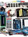 funduino avancado kit de partida do motor lcd servo placa de ensaio matricial levou elemento pacote basico compativel para arduino