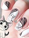 transferencia de agua dos desenhos animados impressao gatinho padrao de etiquetas do prego