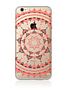 Para Translucido / Estampada Capinha Capa Traseira Capinha Mandala Macia TPU AppleiPhone 7 Plus / iPhone 7 / iPhone 6s Plus/6 Plus /
