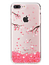 For iPhone 8 iPhone 8 Plus iPhone 7 iPhone 7 Plus Case Cover Rhinestone Transparent Back Cover Case Flower Soft TPU for Apple iPhone 8