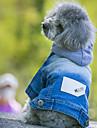 개 후드 데님 자켓 강아지 의류 카우보이 패션 청바지 블루