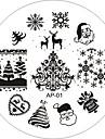 ногтей штамп штамповка изображения шаблон пластины серии AP 25 стиль