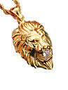 Men\'s Women\'s Pendant Necklaces Animal Shape Lion Stainless Steel Imitation Diamond Fashion Jewelry For Party Daily Casual Sports