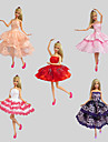 Party/Evening Dresses For Barbie Doll Dresses For Girl\'s Doll Toy