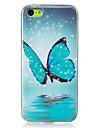 Para Brilha no Escuro / IMD Capinha Capa Traseira Capinha Borboleta Macia TPU para AppleiPhone 7 Plus / iPhone 7 / iPhone 6s Plus/6 Plus