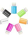maca mfi certificado micro USB para relampago carregador de sincronizacao de dados para o iphone 7 6s 6 mais se 5s 5 / ipad (2cm)