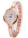 아가씨들 드레스 시계 팔찌 시계 손목 시계 석영 모조 다이아몬드 라인석 합금 밴드 참 골드