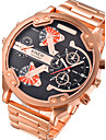 Мужской Дети Спортивные часы Армейские часы Нарядные часы Модные часы Наручные часыКалендарь С двумя часовыми поясами Крупный циферблат