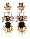 Femme Boucles d\'oreille goutte Cristal Geometrique Fleur Cristal Alliage Forme Geometrique Bijoux Pour Soiree Quotidien Decontracte