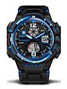 Мужской Спортивные часы Армейские часы Наручные часы Японский кварцLED LCD Календарь Защита от влаги С двумя часовыми поясами тревога