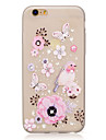 For DIY Rhinestone Glow in the Dark IMD Transparent  Case Back Cover Case Bird Flower Butterfly Soft TPU for iPhone 7 Plus 7 6S Plus SE 5S 5