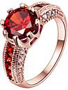Mulheres Anel de noivado Maxi anel Anel Zirconia cubica Euramerican bijuterias Moda Personalizado Prata de Lei Chapeado Dourado Rosa