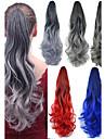 Длинные волосы волны конский хвост женщины синтетические дешевые косплееры волос расширение