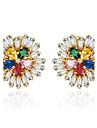 Women\'s Stud Earrings Jewelry Unique Design Euramerican Costume Jewelry Fashion Zircon Alloy Jewelry Jewelry For Wedding Birthday