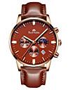 Муж. Модные часы Наручные часы Кварцевый Календарь Фосфоресцирующий Кожа Группа Синий Коричневый