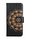Назначение iPhone 8 iPhone 8 Plus Чехлы панели Бумажник для карт Кошелек Флип Рельефный С узором Чехол Кейс для Мандала Цветы Твердый