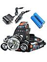 LS052 Lampes Frontales Eclairage de Velo / bicyclette LED 5000 Lumens 4.0 Mode Cree XM-L T6 Resistant aux impacts Rechargeable Impermeable