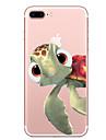 Pour iPhone X iPhone 8 Etuis coque Transparente Motif Coque Arriere Coque Animal Flexible PUT pour Apple iPhone X iPhone 8 Plus iPhone 8