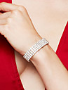 Mulheres Pulseira Tenis Pulseiras Gema Joias de Luxo Elegant bijuterias Moda Casamento Strass Prata Chapeada Imitacoes de Diamante