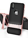 Pour iPhone X iPhone 8 iPhone 8 Plus Etuis coque Avec Support Coque Arriere Coque Couleur unie Dur Polycarbonate pour Apple iPhone X