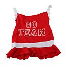 preiswerte Bekleidung & Accessoires für Hunde-Hund Kleider Hundekleidung Buchstabe & Nummer Rot Baumwolle Kostüm Für Haustiere Damen Sport
