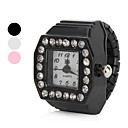 cheap Women's Watches-Women's Ladies Ring Watch Japanese Quartz Imitation Diamond Alloy Band Sparkle Black / White / Pink - White Black Pink One Year Battery Life / SSUO SR626SW