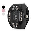 ieftine Ceasuri Damă-Pentru femei Ceas inel Japoneză Quartz Negru / Alb / Pink imitație de diamant Analog femei Sclipici - Alb Negru Roz