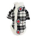 hesapli Fırın Araçları ve Gereçleri-Köpek Paltolar Köpek Giyimi Kareli Siyah / Beyaz Pamuk Kostüm Evcil hayvanlar için Erkek / Kadın's Klasik / Sıcak Tutma