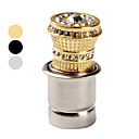 cheap Valve Caps-Car Cigarette Lighter with Small Decorative Crystals (Assorted Colors)