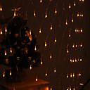 hesapli LED Şerit Işıklar-Parti bahçe çitleri için festivalin dekorasyon 120 önderliğindeki 8-mod sarı ışık net lambalar (220v)
