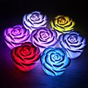 ieftine Lumini & Gadget-uri LED-flori de trandafir a condus lumina noapte schimbarea culorilor schimbarea romantice lumânare lumânare lampă
