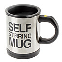 cheap Mugs-Automatic Coffee Mixing Cup / Mug Drinkware Stainless Steel Coffee Cup Self Stirring Electric Mug Button