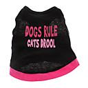 hesapli Köpek Giyim ve Aksesuarları-Köpek Tişört Köpek Giyimi Kalp Harf & Sayı Pamuk Kostüm Evcil hayvanlar için