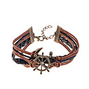 preiswerte Halsketten-Damen Lederarmbänder Leder vergoldet Armbänder Schmuck Kaffee Für Party Alltag Normal