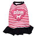 hesapli Ofis Malzemeleri-Köpek Elbiseler Köpek Giyimi Kalp Harf & Sayı Pembe Pamuk Kostüm Evcil hayvanlar için