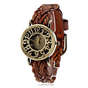 cheap Men's Watches-Women's Quartz Bracelet Watch Casual Watch PU Band Flower Vintage Bohemian Fashion Black Blue Red Brown Green