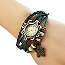 baratos Relógios Femininos-Mulheres Bracele Relógio Relógio Casual PU Banda Borboleta / Boêmio / Fashion Preta / Azul / Marrom / Um ano / Jinli 377