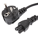 preiswerte Stromkabel & AC Adapterkabel-Power Cable Standard-EU Power-Verlängerungskabel Black (1.2M)