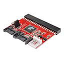 hesapli USB Kabloları-100/133 seri ata dönüştürücü adaptör + kablosu SATA için 0.2m 0.6ft yeni 3.5 ide hdd