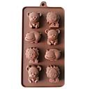 preiswerte Tee-Zubehör-Backwerkzeuge Silikon 3D / Heimwerken Kuchen / Plätzchen / Obstkuchen Tier Backform 1pc