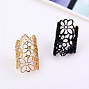 cheap Rings-Women's Band Ring Statement Ring - Lace, Alloy European, Open Gold / Black For Party Casual