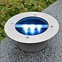 hesapli LED Güneş Enerjili Işıklar-Güneş Enerjisi Yuvarlak Gömme Güverte İskele Yolu Bahçe aydınlatması LED