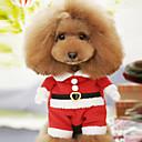 זול אביזרים ובגדים לכלבים-כלב תחפושות בגדים לכלבים אנימציה אדום כותנה תחפושות עבור חיות מחמד בגדי ריקוד גברים בגדי ריקוד נשים חמוד קוספליי חג מולד